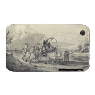 Open Landscape with Herdsman and Covered Cart, c.1 iPhone 3 Case-Mate Cases