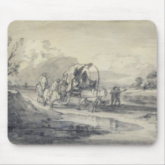 Open Landscape with Herdsman and Covered Cart, c.1 Mouse Pad