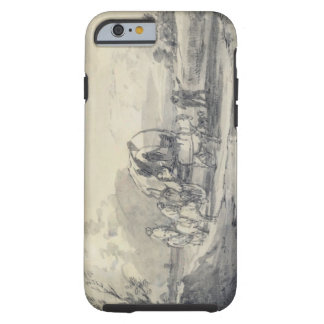 Open Landscape with Herdsman and Covered Cart, c.1 Tough iPhone 6 Case