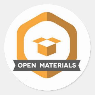 Open Materials Sticker Badge