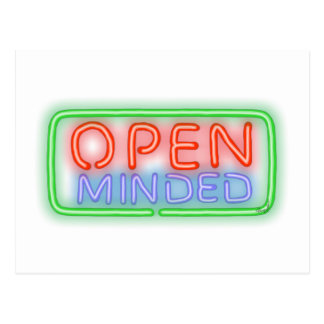 Open Minded Postcard