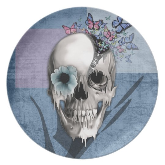 Open Minded Sugar Skull Plate