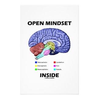 Open Mindset Inside Anatomical Brain Humor Personalised Stationery