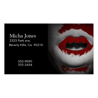 Open Mouth Bloody Vampire Fangs Pack Of Standard Business Cards
