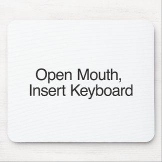 Open Mouth Insert Keyboard Mousepads
