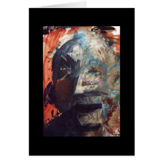 open mouth mask (card) greeting card