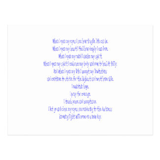 Open My Eyes Postcard