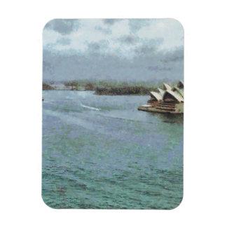 Open ocean in front of Sydney Opera House Rectangular Photo Magnet