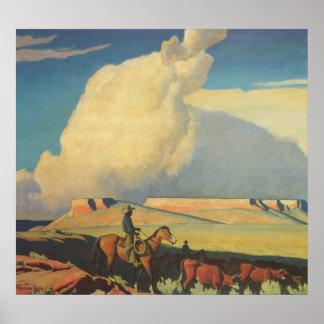 Open Range by Maynard Dixon Vintage Cowboys Print