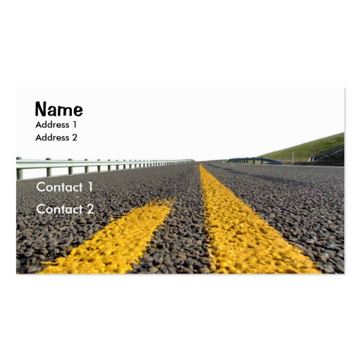 Open Road Business Card Template