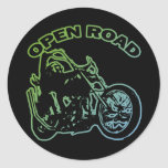 OPEN ROAD ROUND STICKERS