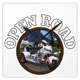 Open Road White Trike Clocks