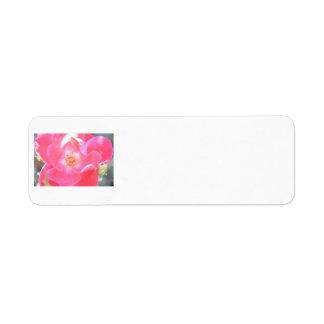 Open rose return address label