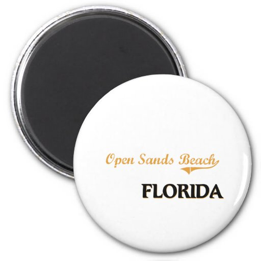 Open Sands Beach Florida Classic Refrigerator Magnets