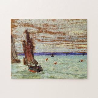 Open Sea Monet Fine Art Jigsaw Puzzle