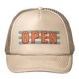 OPEN SIGN CAP