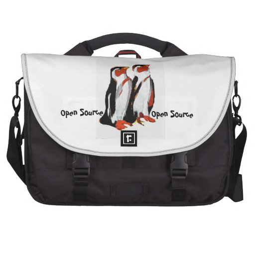 Open Source Computer Bag with penguins