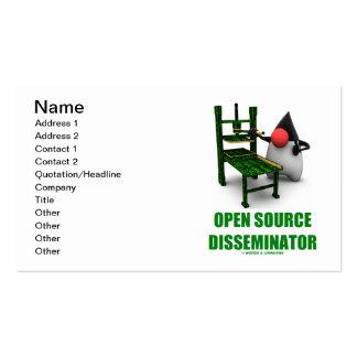 Open Source Disseminator (Java Duke Gutenburg) Business Card Templates