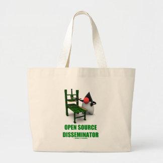 Open Source Disseminator (Open Source Duke) Jumbo Tote Bag
