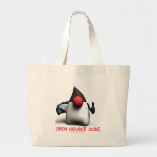 Open Source Dude (Software Developer Duke) Jumbo Tote Bag