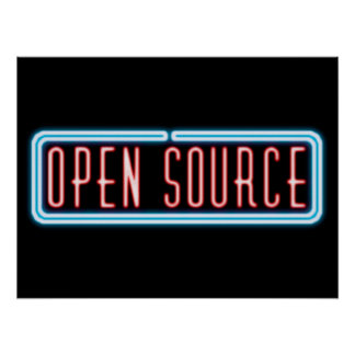 Open Source Neon Sign Poster