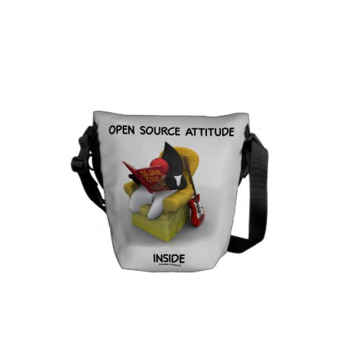 Open Source Student (Duke Java Book Comfy Chair) Courier Bags
