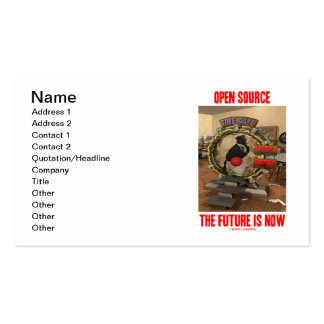 Open Source The Future Is Now Software Engineer Business Card Templates
