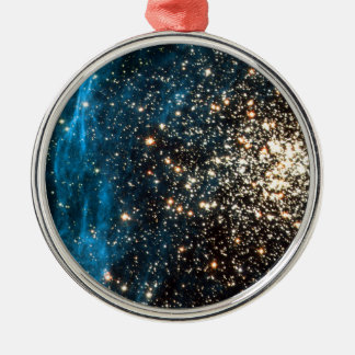 Open Star Cluster NGC 1850 in Dorado Constellation Christmas Ornament