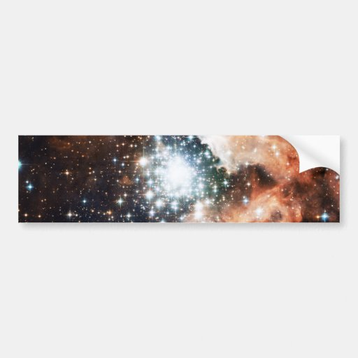 Open Star Cluster NGC 3603 in the Carina Nebula Bumper Sticker