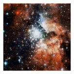 Open Star Cluster NGC 3603 in the Carina Nebula Print