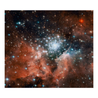 Open Star Cluster NGC 3603 Poster