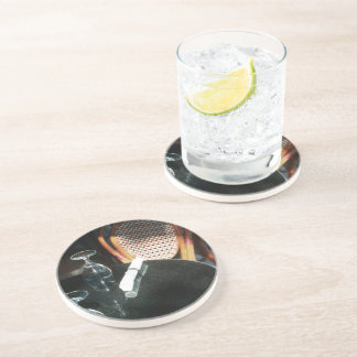Open Table for Dinner Beverage Coasters
