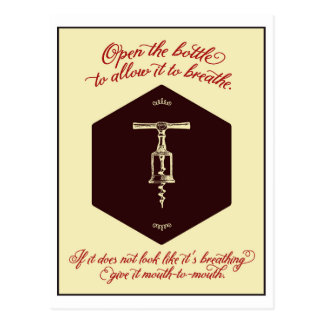 """Open the Bottle of Wine"" Greeting Card - Postcard"