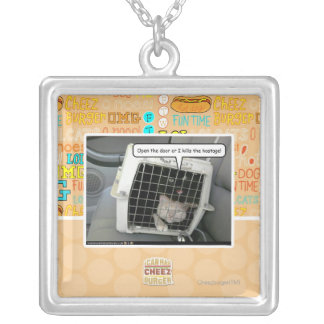 Open the door silver plated necklace