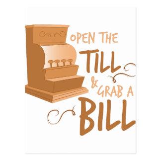 Open The TIll Postcard