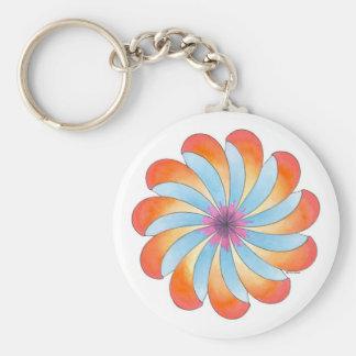 Open to Healing Basic Round Button Key Ring