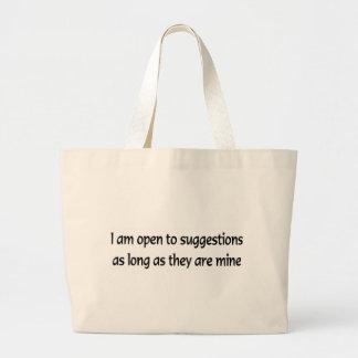 Open To Suggestions Jumbo Tote Bag