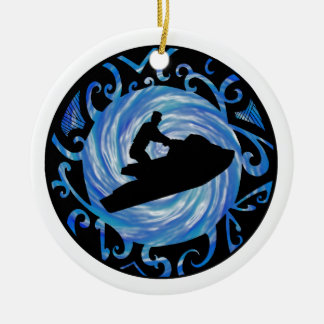 OPEN WATER JETSKIING CHRISTMAS ORNAMENT