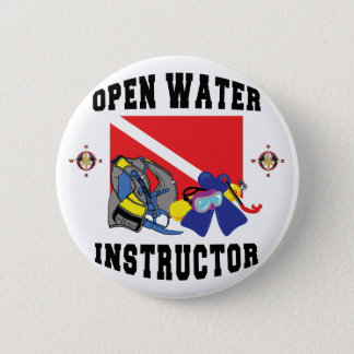 Open Water SCUBA Instructor 6 Cm Round Badge