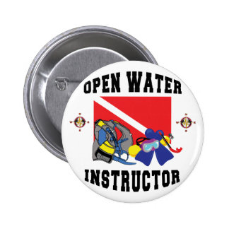 Open Water SCUBA Instructor 6 Cm Round Badge