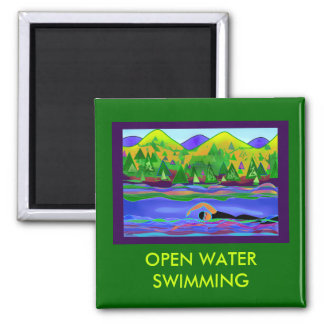 Open Water Solo Magnet