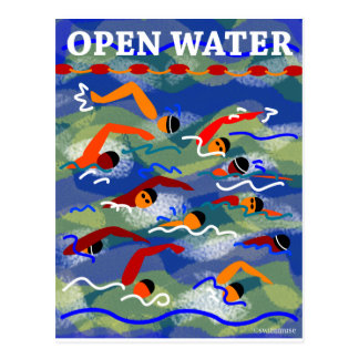 OPEN WATER Swim Postcard