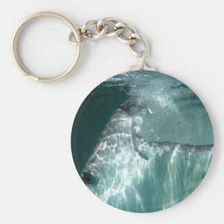 Open Wide! Basic Round Button Key Ring