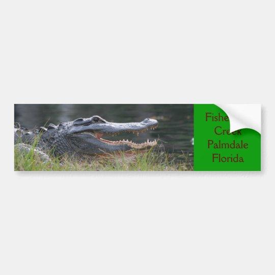 Open wide  Fisheating Creek Palmdale Florida Bumper Sticker