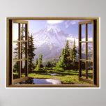 Open Window at Mt. Rainier Print