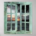 Open Window Kauai Sunset Posters