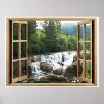 Open Window Waterfall River Poster