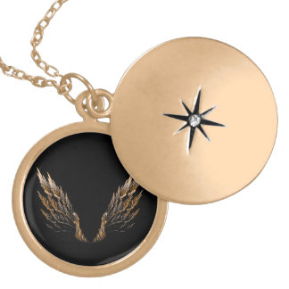 Open Wings Gold Plated Necklace
