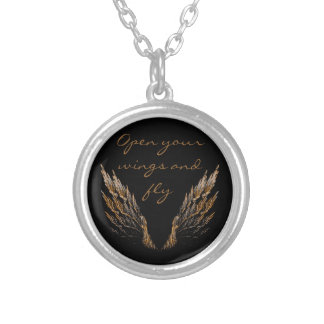 Open Wings Silver Plated Necklace