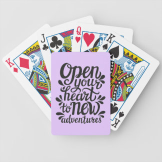 Open Your Heart To New Adventures Poker Deck